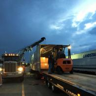 Our complete line of recovery equipment includes forklifts, skid loaders, dry vans and flatbed trailers.